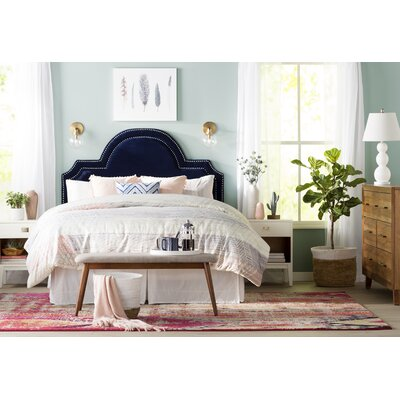 Keaton Upholstered Panel Headboard Size: Queen