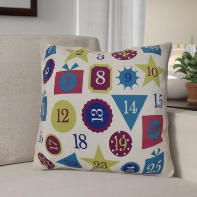 Advent Calendar Throw Pillow Size: 26 H x 26 W, Color: Royal Blue