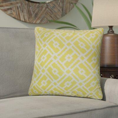Kyara Geometric Cotton Throw Pillow Color: Canary