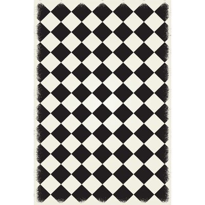 Bostick Diamond European Black/White Indoor/Outdoor Area Rug Size: Rectangle 4 x 6