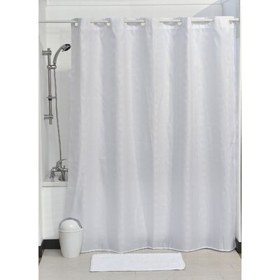 Hookless Shower Curtain Color: White