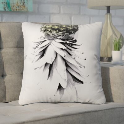 Cervantez Pineapple 1 Outdoor Throw Pillow Size: 18 H x 18 W x 5 D