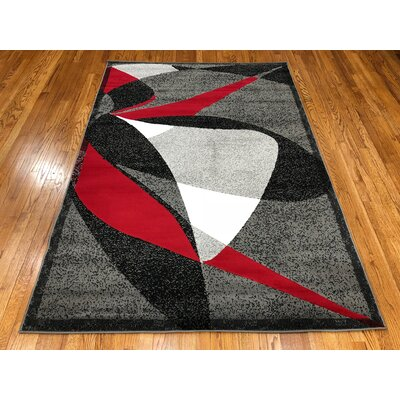 Jones Dark Gray Area Rug Rug Size: Rectangle 37 x 5