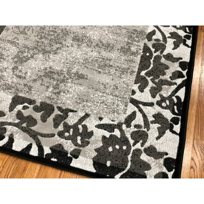 Everill Gray Area Rug Rug Size: Rectangle 2 x 72