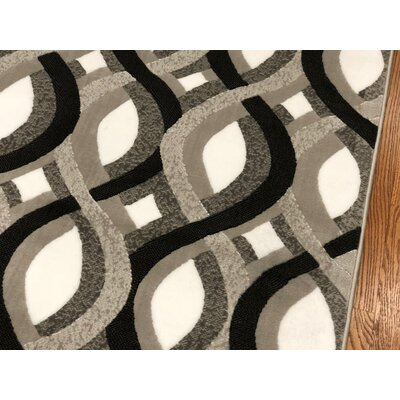 Jones Light Gray Area Rug Rug Size: Rectangle 110 x 211