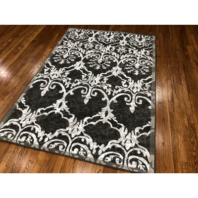 Meador Dark Gray Area Rug Rug Size: Rectangle 110 x 211
