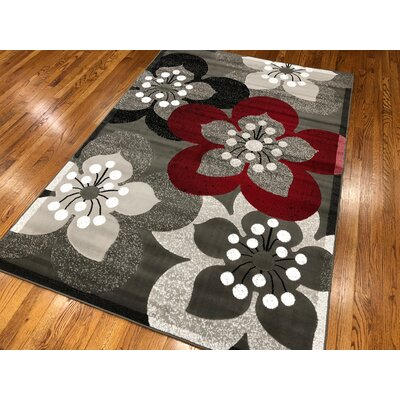 Everill Dark Gray Area Rug Rug Size: Rectangle 110 x 211