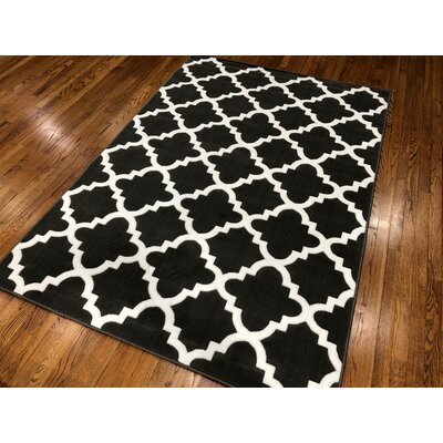 Hilger Dark Gray Area Rug Rug Size: Rectangle 5 x 7