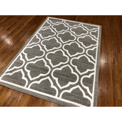 Hilger Dark Gray Area Rug Rug Size: Rectangle 110 x 211