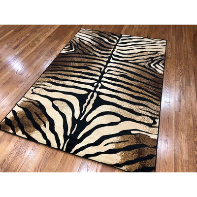 Hoglund Black Area Rug Rug Size: Rectangle 8 x 11
