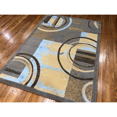Jones Gray Area Rug Rug Size: Rectangle 37 x 5