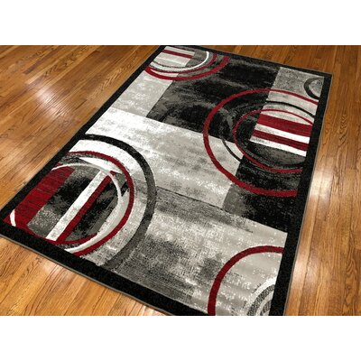Jones Gray Area Rug Rug Size: Rectangle 110 x 211