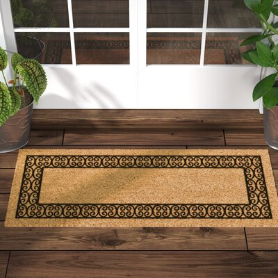 Frances Charleston Border Double Door Doormat Mat Size: Rectangle 24 x 60
