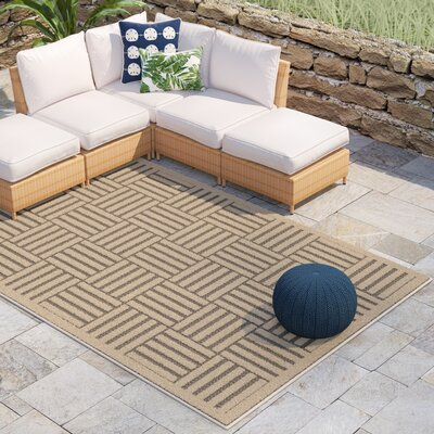 Zaniyah Gray Indoor/Outdoor Area Rug Rug Size: Rectangle 33 x 53
