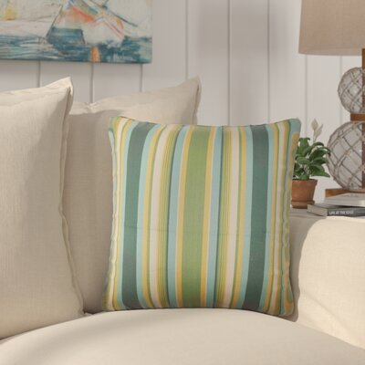 Yeji Striped Cotton Throw Pillow Color: Cabana