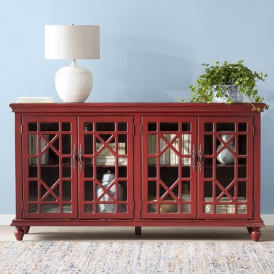 Ira 72 TV Stand Color: Enson Textured Red