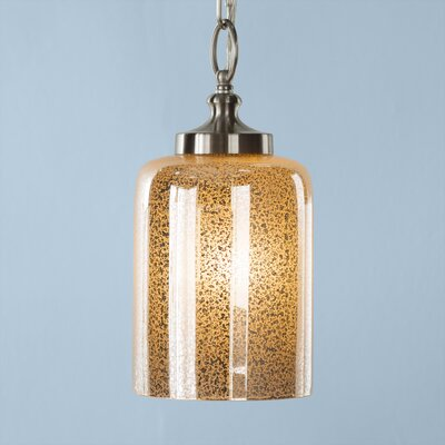 Wilkins 1-Light Mini Pendant Finish: Brushed Steel, Shade Color: Silver Mercury Plating, Bulb Type: Incandescent