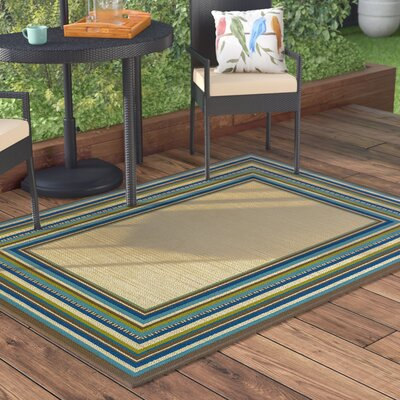 Brendel Hand Woven Brown Indoor/Outdoor Area Rug Rug Size: Rectangle 53 x 76