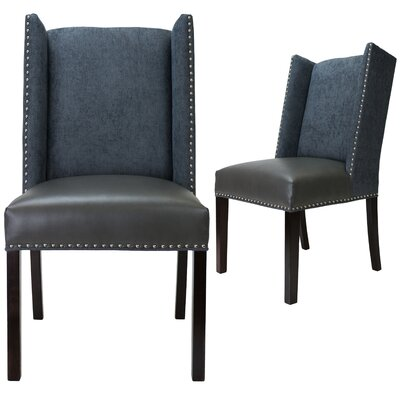 Renn Upholstered Dining Chair Upholstery Color: Gray, Leg Color: Espresso