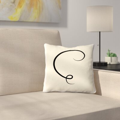 Abstract Stroke Throw Pillow Size: 16 x 16
