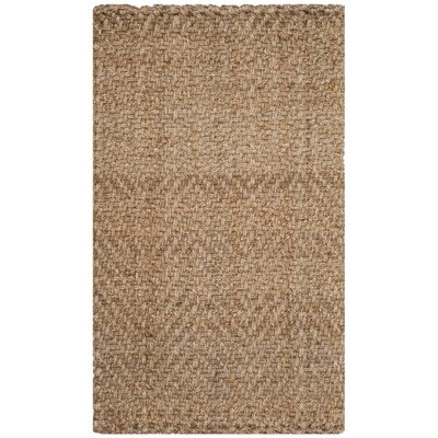 Clea Fiber Hand-Woven Natural Area Rug Rug Size: Rectangle 3 x 5