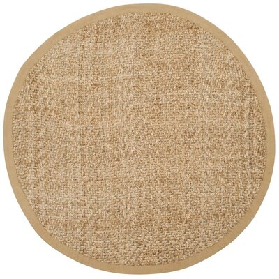 Clea Fiber Hand-Woven Natural Area Rug Rug Size: Round 6