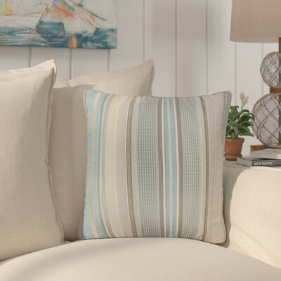 Alberta Stripes Throw Pillow Color: Blue