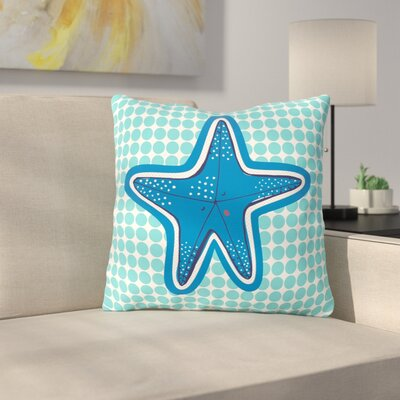 Estrella De Mar by MaJoBV Throw Pillow Size: 16 H x 16 W