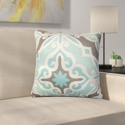 Wynleigh Sunderman Geometric Cotton Throw Pillow Color: Blue/Gray