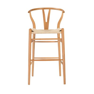 Cipriano Bar Stool Color: Natural, Size: 39 H x 21 W x 22 D