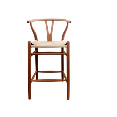Cipriano Bar Stool Color: Walnut, Size: 43 H x 21 W x 22 D