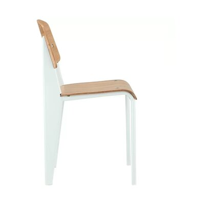 Courtois Dining Chair Color: White
