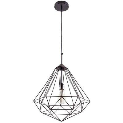 Diego 1-Light Foyer/Lantern Pendant Shade Color: Black
