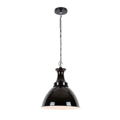 Aten 1-Light Mini Pendant Shade Color: Black
