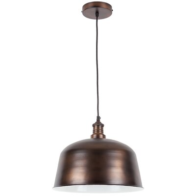 Martinez 1-Light Mini Pendant Shade Color: Bronze