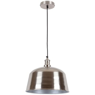 Martinez 1-Light Mini Pendant Shade Color: Nickel