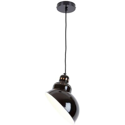 Ater 1-Light Mini Pendant Shade Color: Black