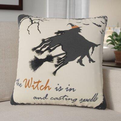 Witch 100% Cotton Throw Pillow