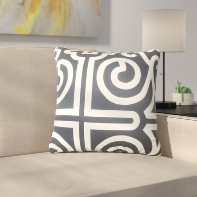 Renick Geometric Cotton Throw Pillow Color: Black