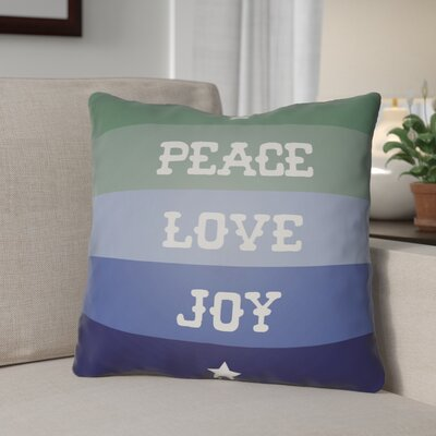 Stripe Indoor/Outdoor Throw Pillow Size: 18 H x 18 W x 4 D, Color: Blue / Green / White