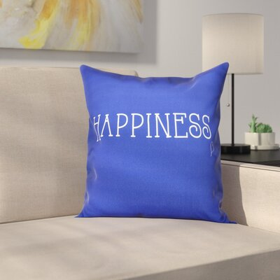 Olevia Happiness Throw Pillow Size: 16 H x 16 W, Color: Blue