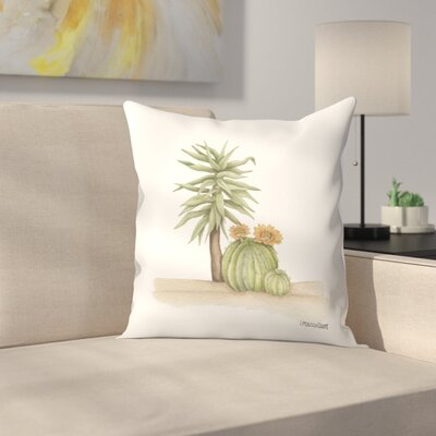 Yucca Cacti Throw Pillow Size: 14 x 14
