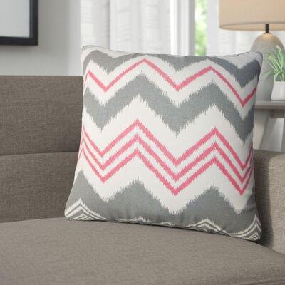 Aubrielle Zigzag Cotton Throw Pillow Color: Gray