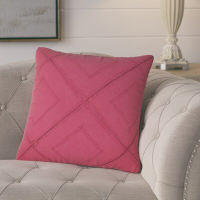 Kingsburg Decorative 100% Cotton Throw Pillow Color: Steel Pink