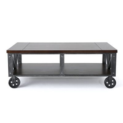 Warleigh Coffee Table with Casters Table Top Color: Rustic Wood