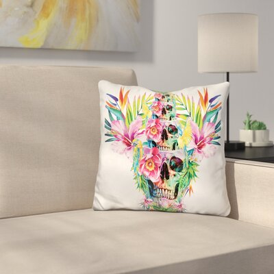 Skull Tower Throw Pillow