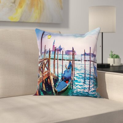 Venice Dreamy View Pillow Cover Size: 18 x 18