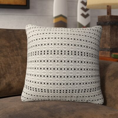 Holyoke Throw Pillow Color: Black/Tan, Size: 16 H x 16 W