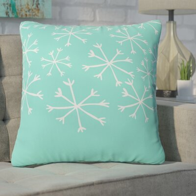 Gilcrease Snowing Indoor/Outdoor Throw Pillow Size: Medium