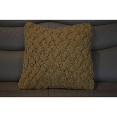 Fendley Faded Tie Cross Cotton Throw Pillow Color: Yellow